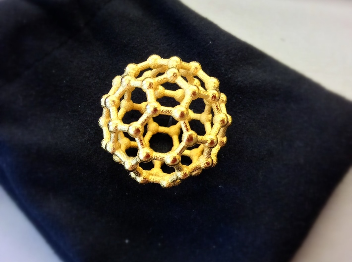 Truncated Icosahedron (bucky ball) 3d printed The real thing!