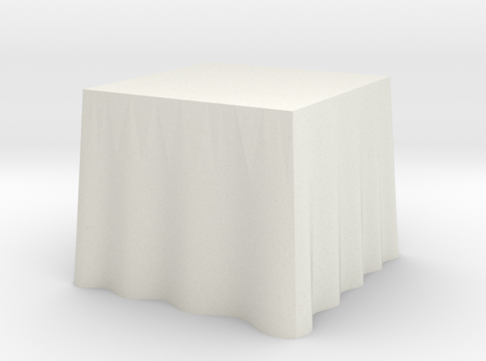 "1:48 Draped Table - 30"" square 3d printed"