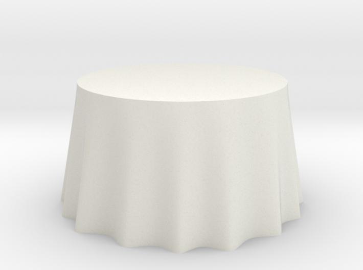 """1:48 Draped Table - 48"""" diameter 3d printed"""