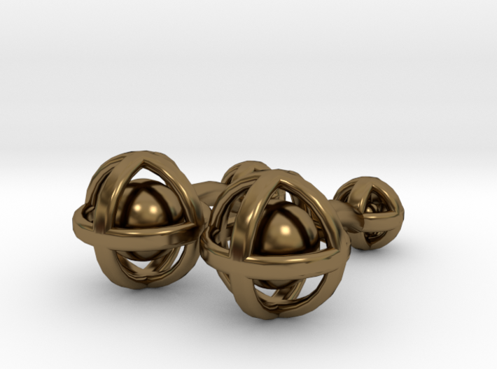 Ball In Sphere Cufflinks 3d printed