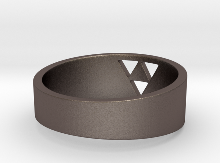 """Triforce Ring - 7""""3/4 3d printed"""