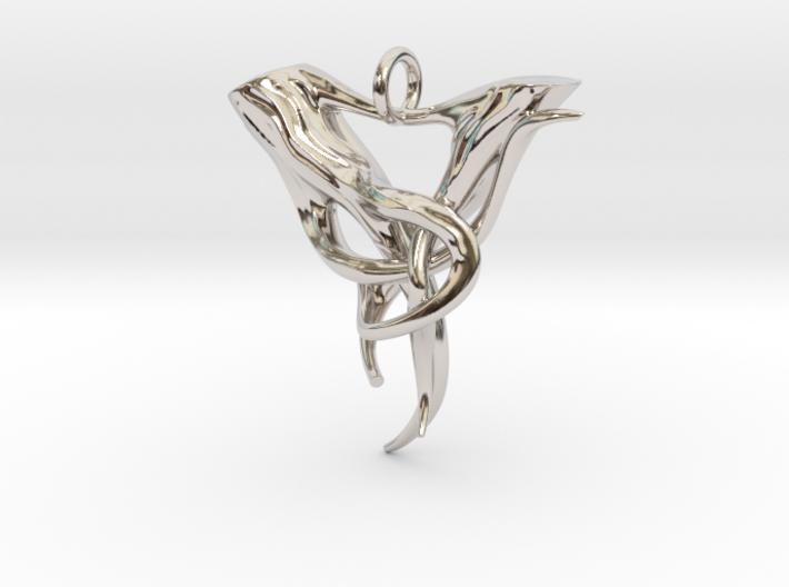 "Elven Pendant ""Airmid"" 3d printed"