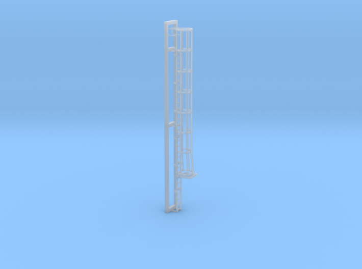 Ladder with Safety Cage in HO scale 3d printed