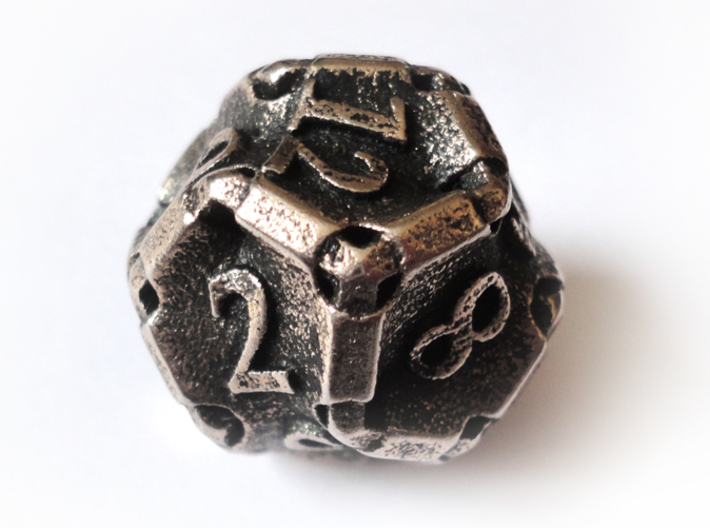 Stretcher d12 3d printed In stainless steel and inked