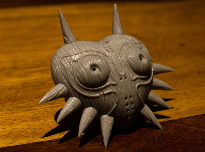 Majora's Mask HD model with Woodgrain detail 3d printed The mask made in our in-house FDM machine before paint was applied