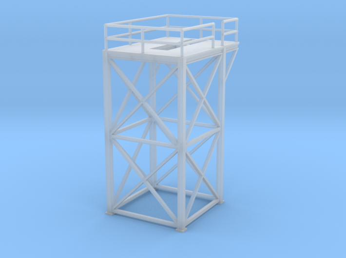 'N Scale' - 10 Ft x 10 Ft x 20 Ft Tower Top 3d printed