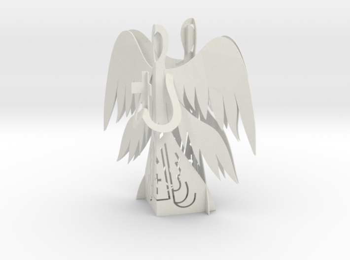Two Angels 3D - Prayer and Cross 3d printed