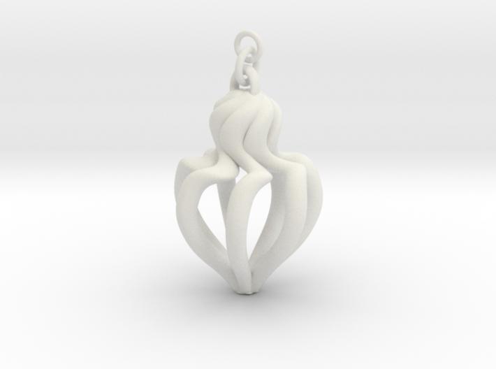 Swirl Earring 3d printed