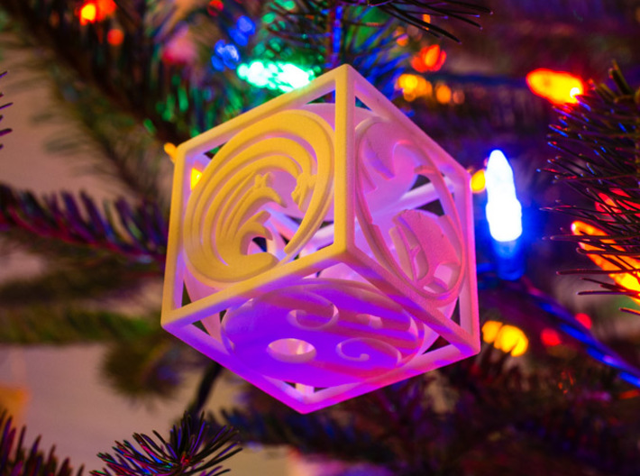 Japanese-inspired Ornament 3d printed Printed in WSF, on the tree