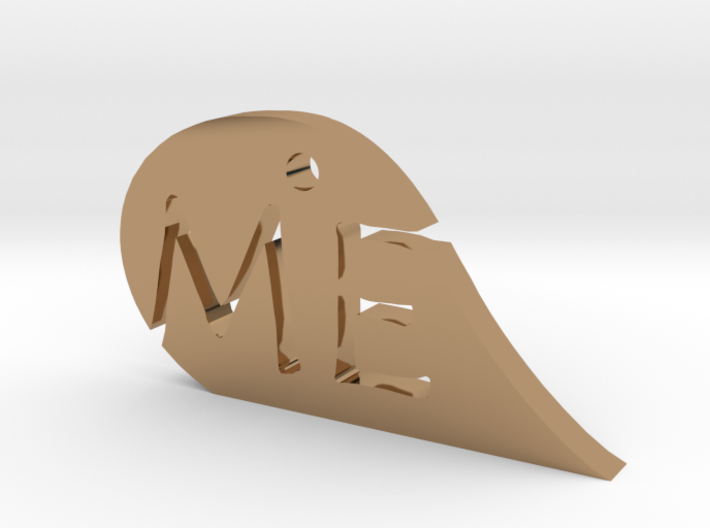 We Me Mirror Heart 3d printed
