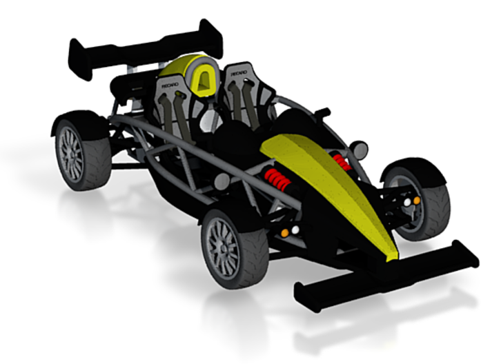 Ariel Atom 1/43 scale LHD w/wings color 3d printed