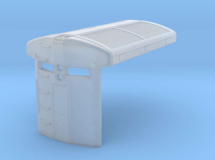 U33C radiator and hood end (1/160) 3d printed