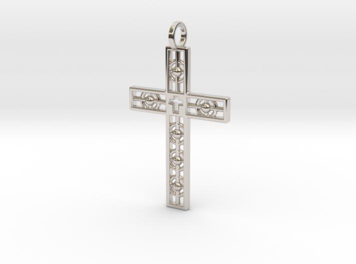 Atomic Cross 3d printed