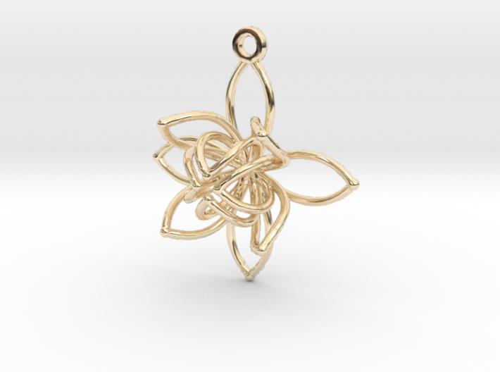 Flower Frame Pendant 3d printed