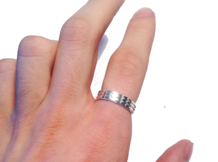 Metal Snake Skin Ring - Sz. 8 3d printed
