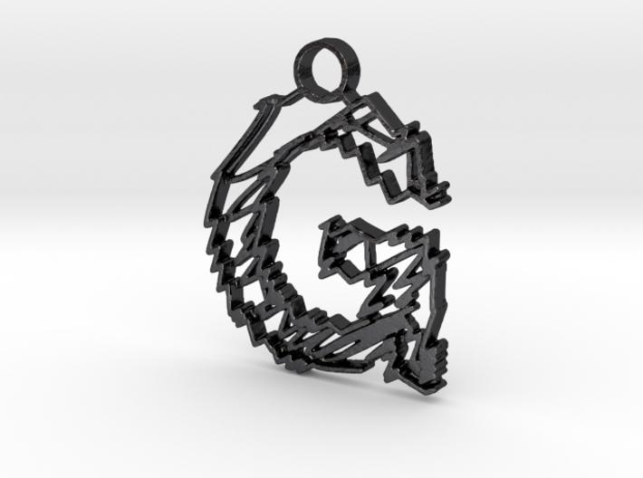 "Sketch ""G"" Pendant 3d printed"
