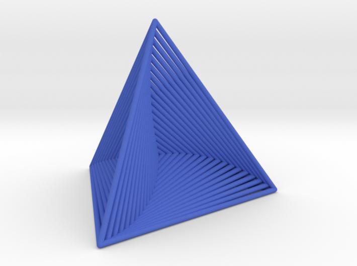 0046 Tetrahedron Line Design (5 cm) #001 3d printed