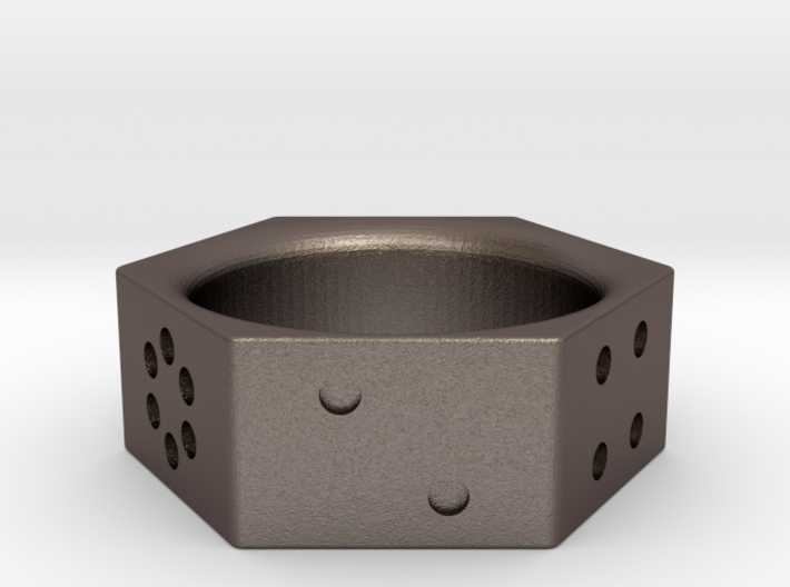 Dice Ring Size 10 3d printed