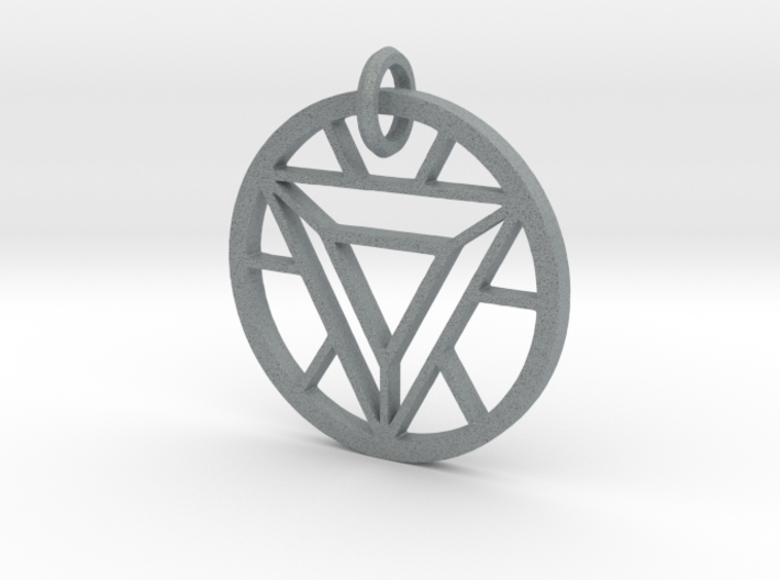 ArcReactor SilverTriangle (35mm) PENDANT 3d printed