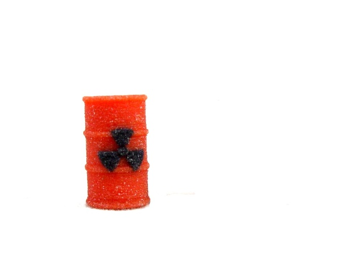 Radioactive Barrel, Red 3d printed Full Color Sandstone Picture