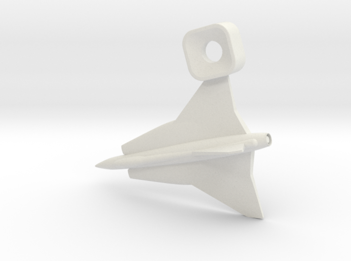 Saab Draken Charm 3d printed