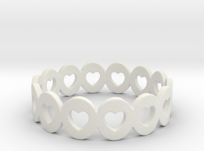 Hearts Galore Ring Size 6 3d printed