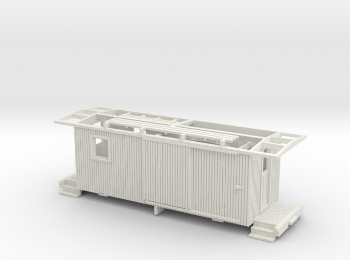 HOn30 Freelance Caboose (ex Boxcar) 3d printed