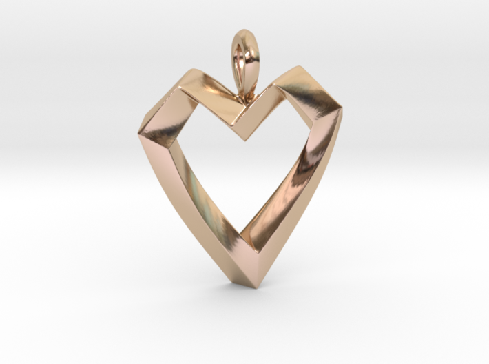 Impossible Love Pendant 3d printed