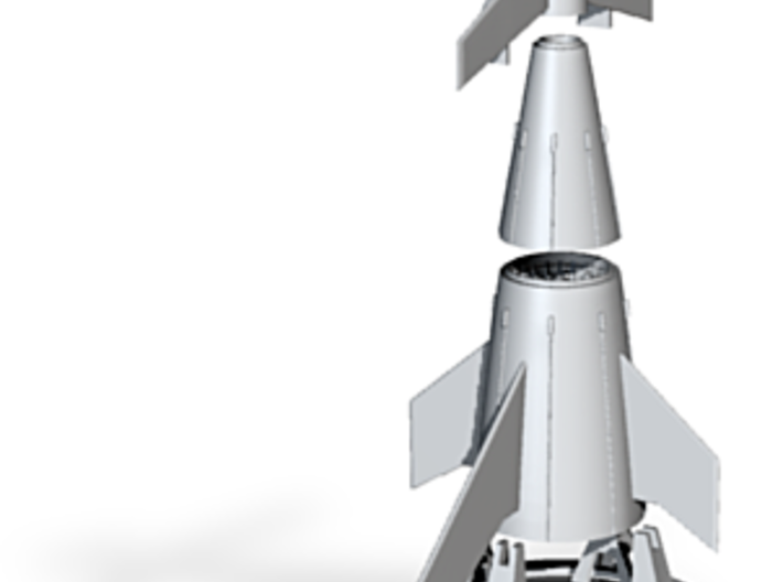 3 stage ferry rocket alumide 3d printed