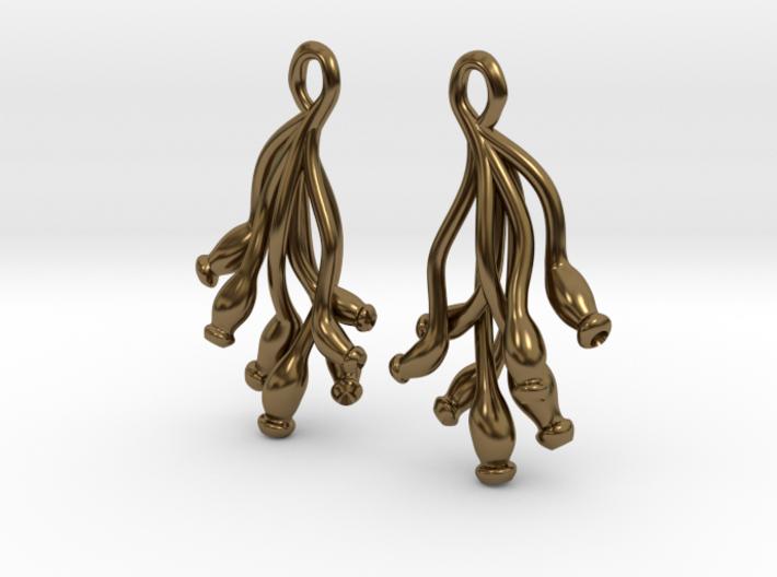 Ascilla Sponge earrings 3d printed