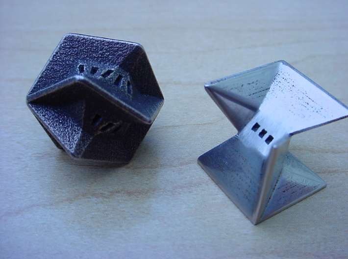 5 sided die 3d printed