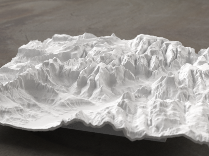 8'' Zion National Park Terrain Model, Utah, USA 3d printed Radiance rendering