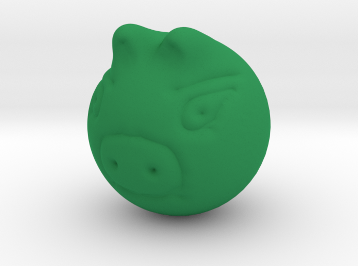 Real Green Piggy 3d printed