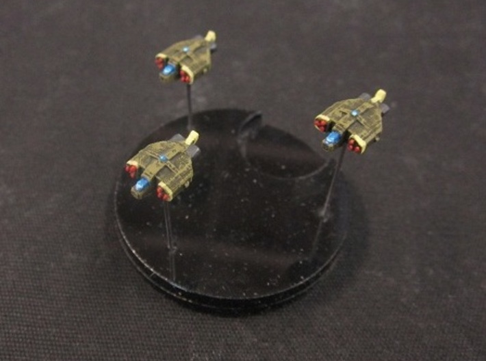 8 Human Alliance Gunships 3d printed painted and based