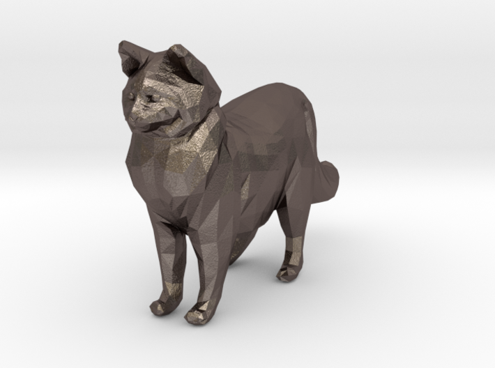 Ragdoll Kitty Toy Charm by Cindi (Copyright 2015) 3d printed Stainless Steel