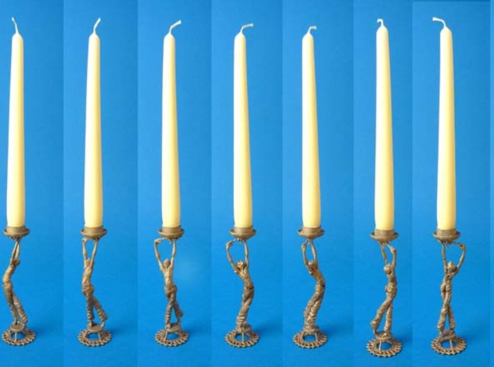 "Candleholder ""Screwdriver"" 3d printed candle holder ""Screwdriver""- 3D printed in steel"