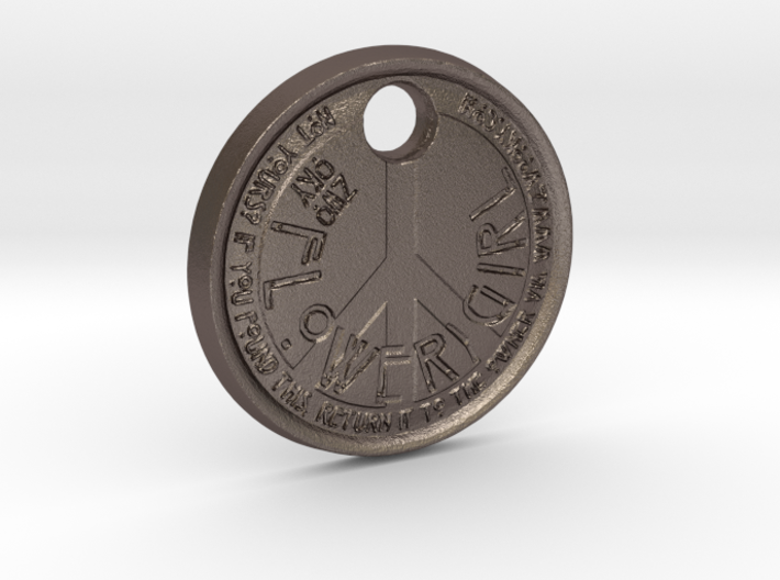 ZWOOKY Style 68 Sample - keychain peace 3d printed