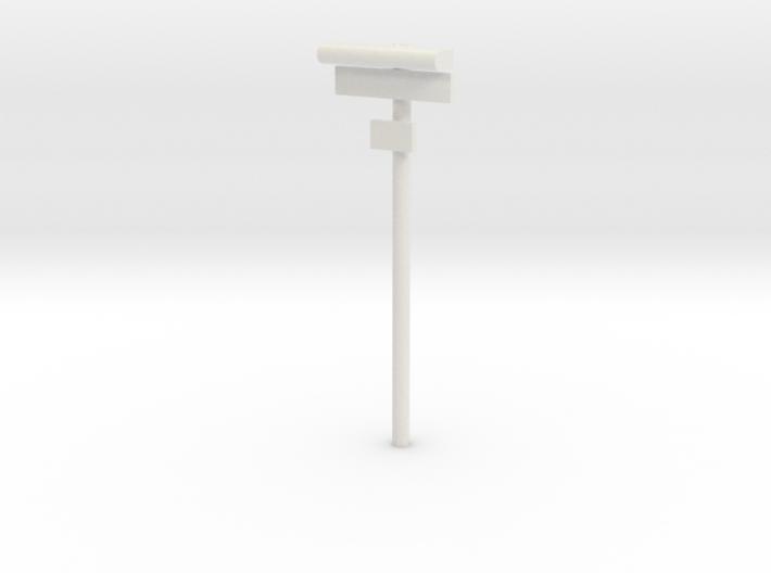 DSB Stations lampe med stationsskilt og lille unde 3d printed