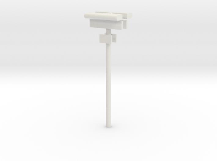 DSB Stations lampe (dobbelt) med stationsskilt og  3d printed