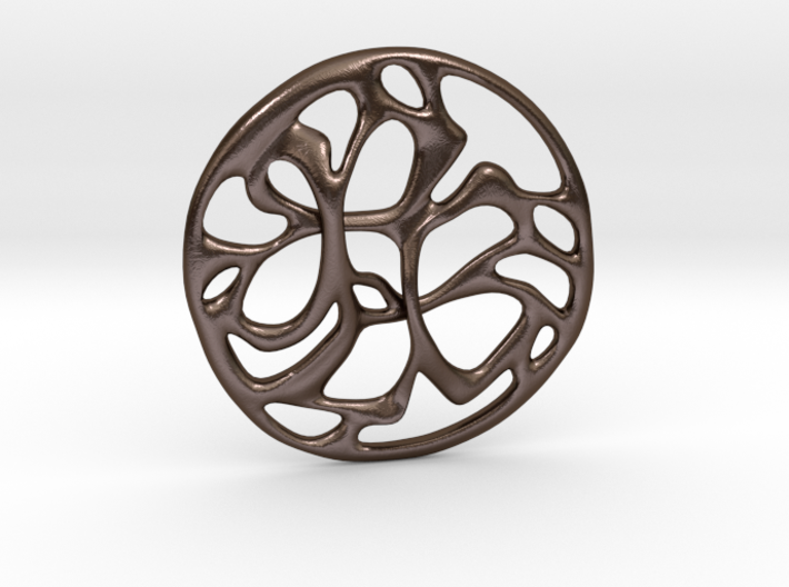 Cobwebs Pendant 3d printed