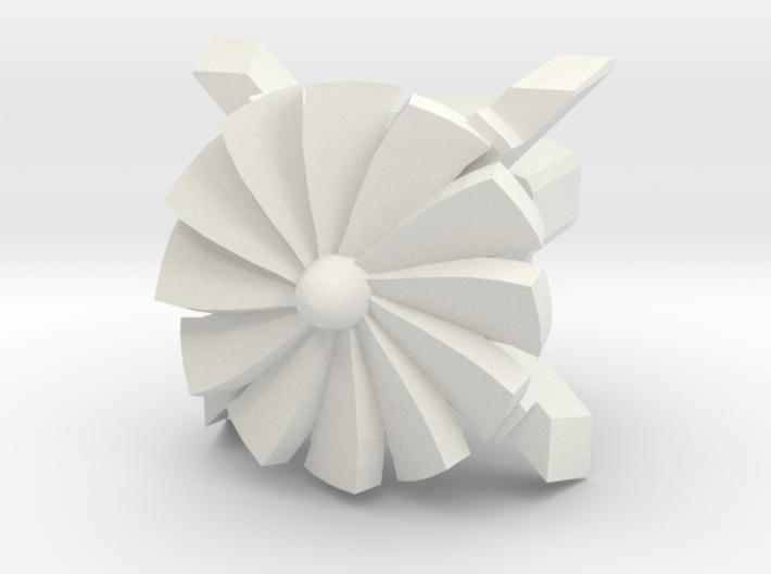 Turbine Cherry MX Keycap 3d printed