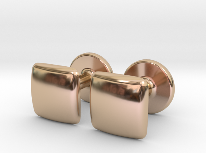 Cufflinks Small And Round 3d printed
