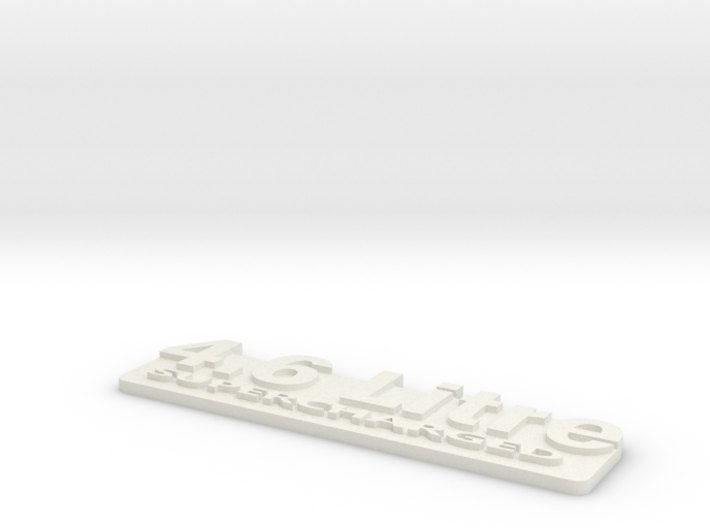 4.6L Supercharged Jeep Badge 3d printed