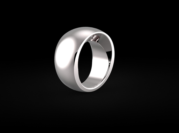 Platinum Mystery Ring size 7 3d printed