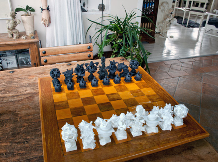Surreal Chess Set - My Masterpieces - The Rook 3d printed The Full Set