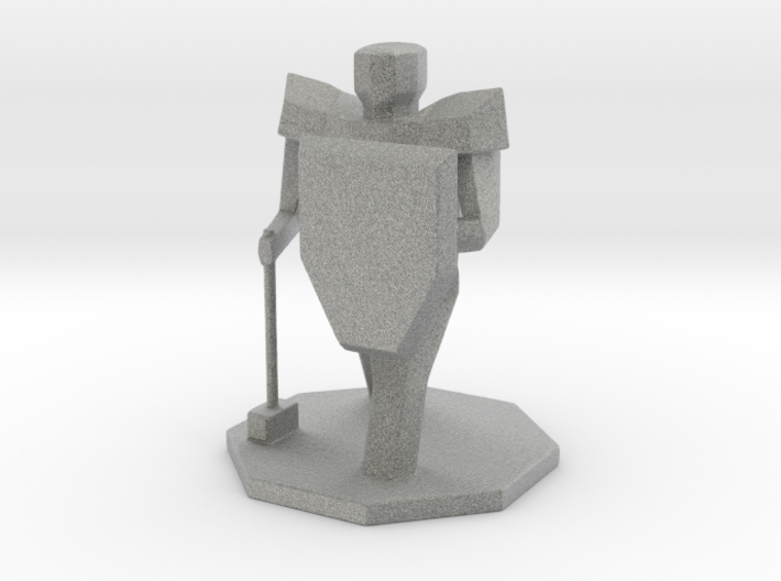 DND Paladin Figure 3d printed
