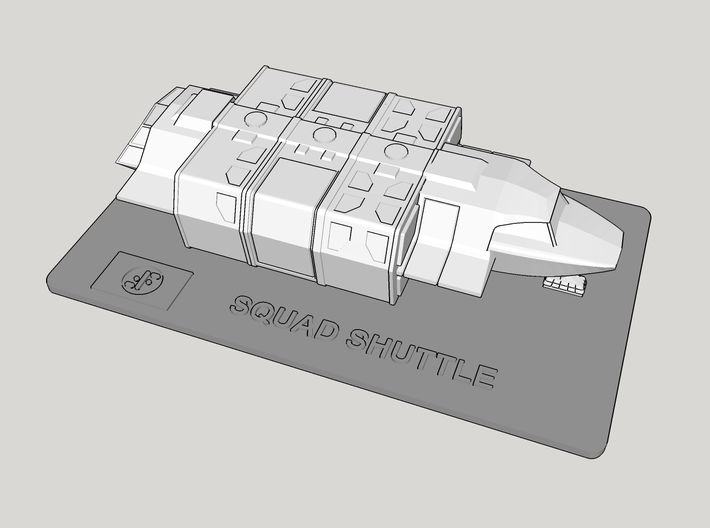 V Squad Shuttle Display Base (Models to 1/64) 3d printed Application Example - Ship NOT INCLUDED