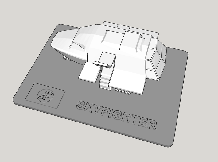 V Skyfighter Display Base (Models to 1/64) 3d printed Application Example - Fighter NOT INCLUDED