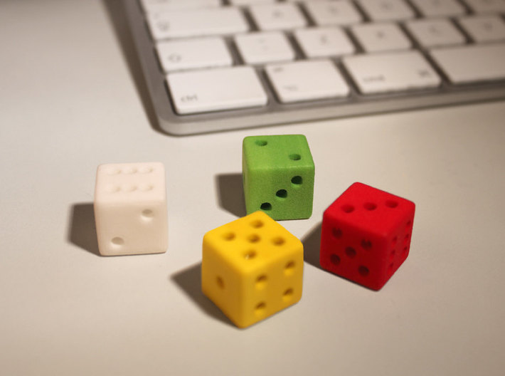 Hollow D6 3d printed A bunch of happy colors