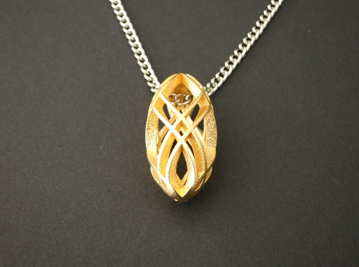 Steelbead Pendant 3d printed solitaire